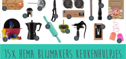 15x Hema Blijmakers keukenhulpjes