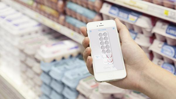 Met de Egg Minder app check je in de supermarkt je vooraad eieren