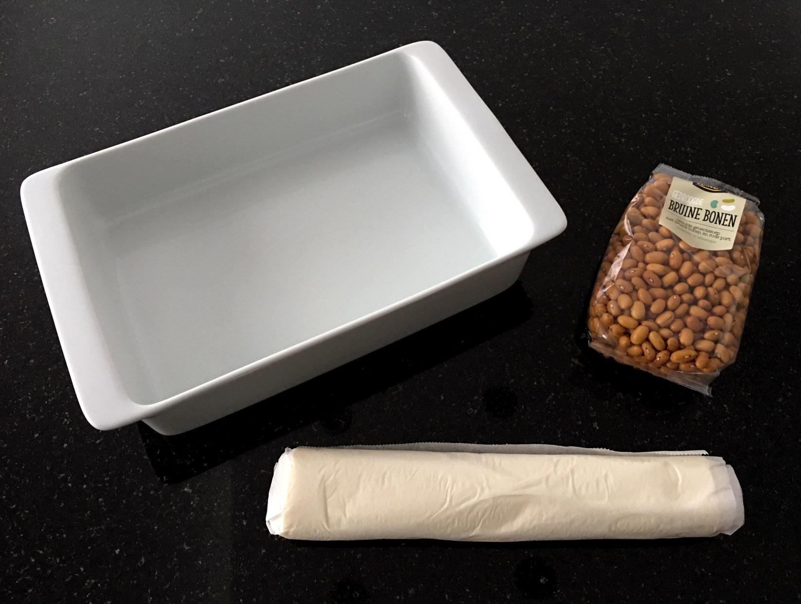 Blind bakken zonder bakbonen