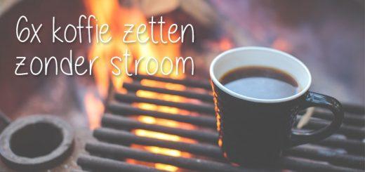 Koffie zetten zonder stroom