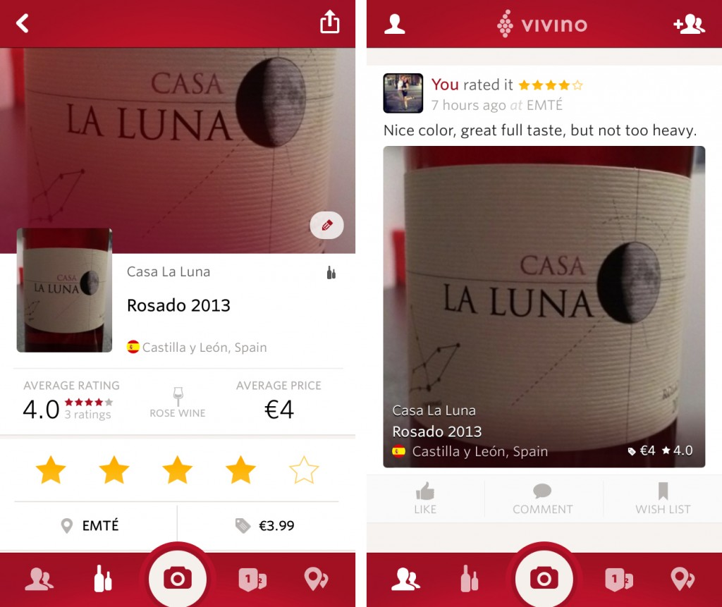 Vivino Wine Scanner app test