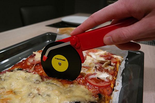 Rocket Design Pizzasnijder test
