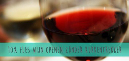 10x een fles wijn openen zonder kurkentrekker